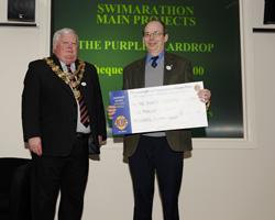 Purple Teardrop Campaign Representative at the 2011 Poole Lions Swimarathon Presentation Evening
